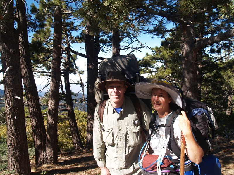 The two of us on the San Bernardino Peak Trail