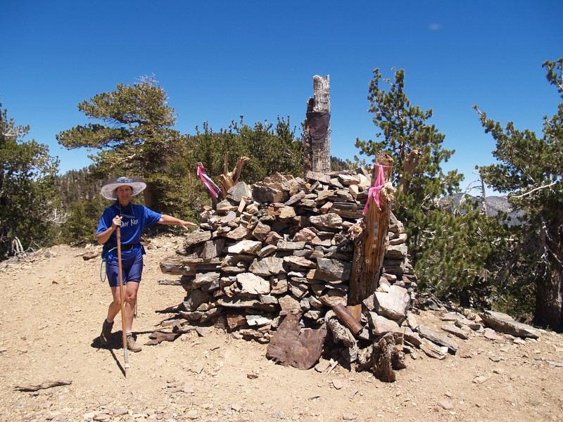 Washington's Monument on San Bernardino Peak's west ridge