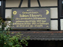 Photo of Tobias Mayer brown plaque