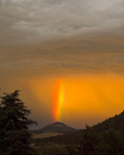 sunset rainbow july2011