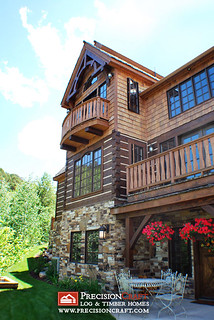 Exterior View of t his Hybrid Log & Timber Home