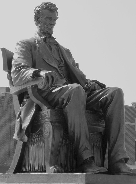 Abraham Lincoln Statue B&W - Hodgenville, KY