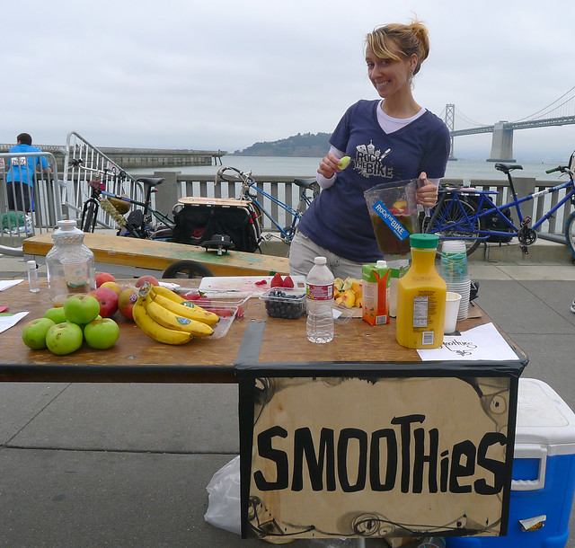Smoothie Station at SF Marathon