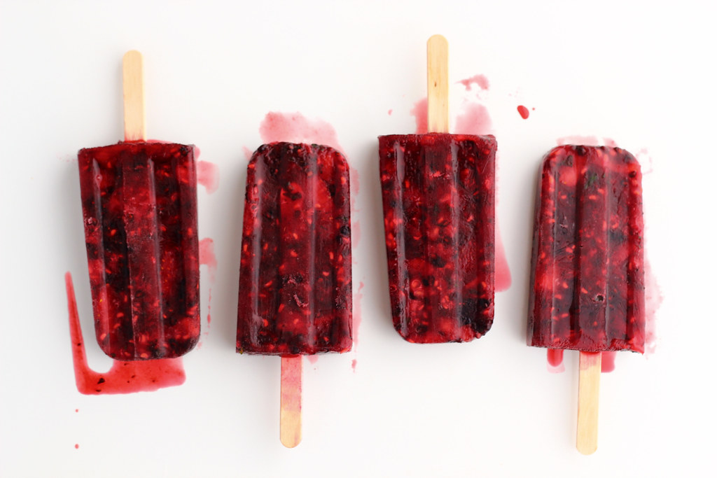 Summer Berry + Mint Ice Pops