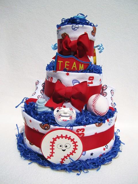 baseball baby diaper cake shower gift newborn present flickr photo
