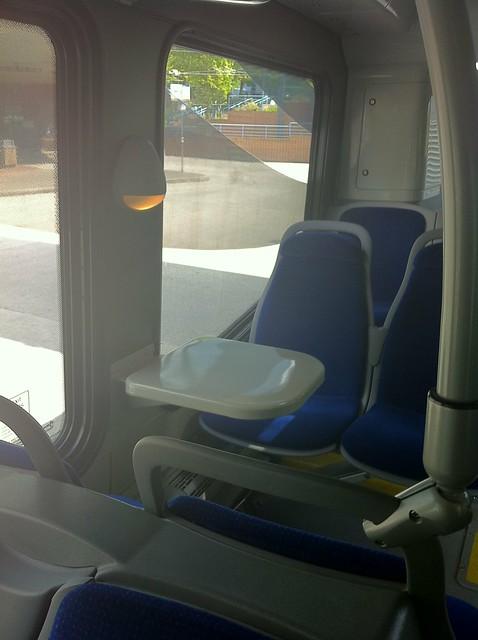 Table in the back of the Nova Bus LFX