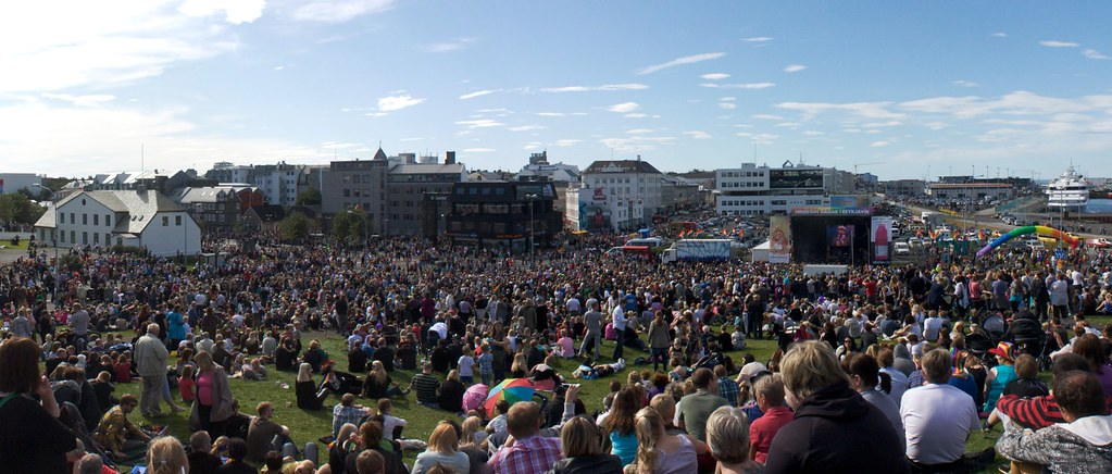 Gay Pride Festival in Downtown Reykjavik