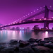 'Bridging Purple,' United States, New York, New York City, Manhattan Bridge, Dumbo by WanderingtheWorld (www.ChrisFord.com)
