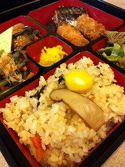 bento(0.0), meal(1.0), lunch(1.0), steamed rice(1.0), rice(1.0), nasi goreng(1.0), ekiben(1.0), food(1.0), dish(1.0), cuisine(1.0),