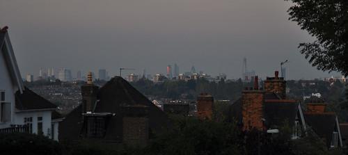 London skyline from Wimbledon