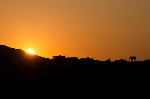sunset red sky lebanon orange sun silhouette landscape israel nikon scenery view border לבנון ישראל metula שקיעה שמש אדום כתום צללית גבול ניקון מטולה d7000