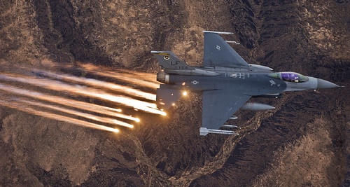 F-16 Flying Over Arizona