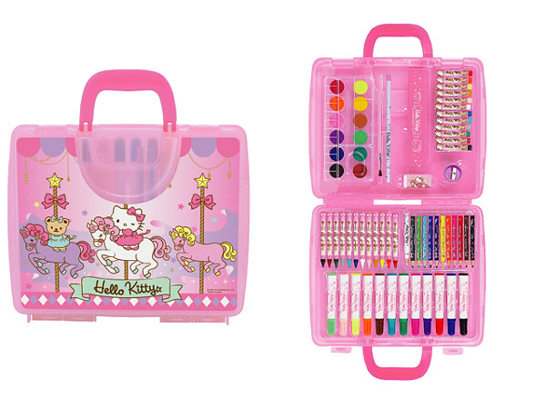 Hello Kitty Coloring Pages With Crayons : Hello kitty colouring kit cdn contains markers