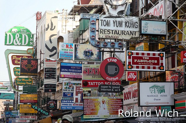 Bangkok - Khao San Road Signs | Flickr - Photo Sharing!