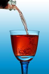 A Glass of Sparkling Rosé