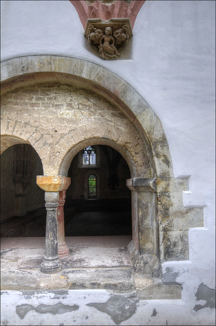 window in the interior courtyard of