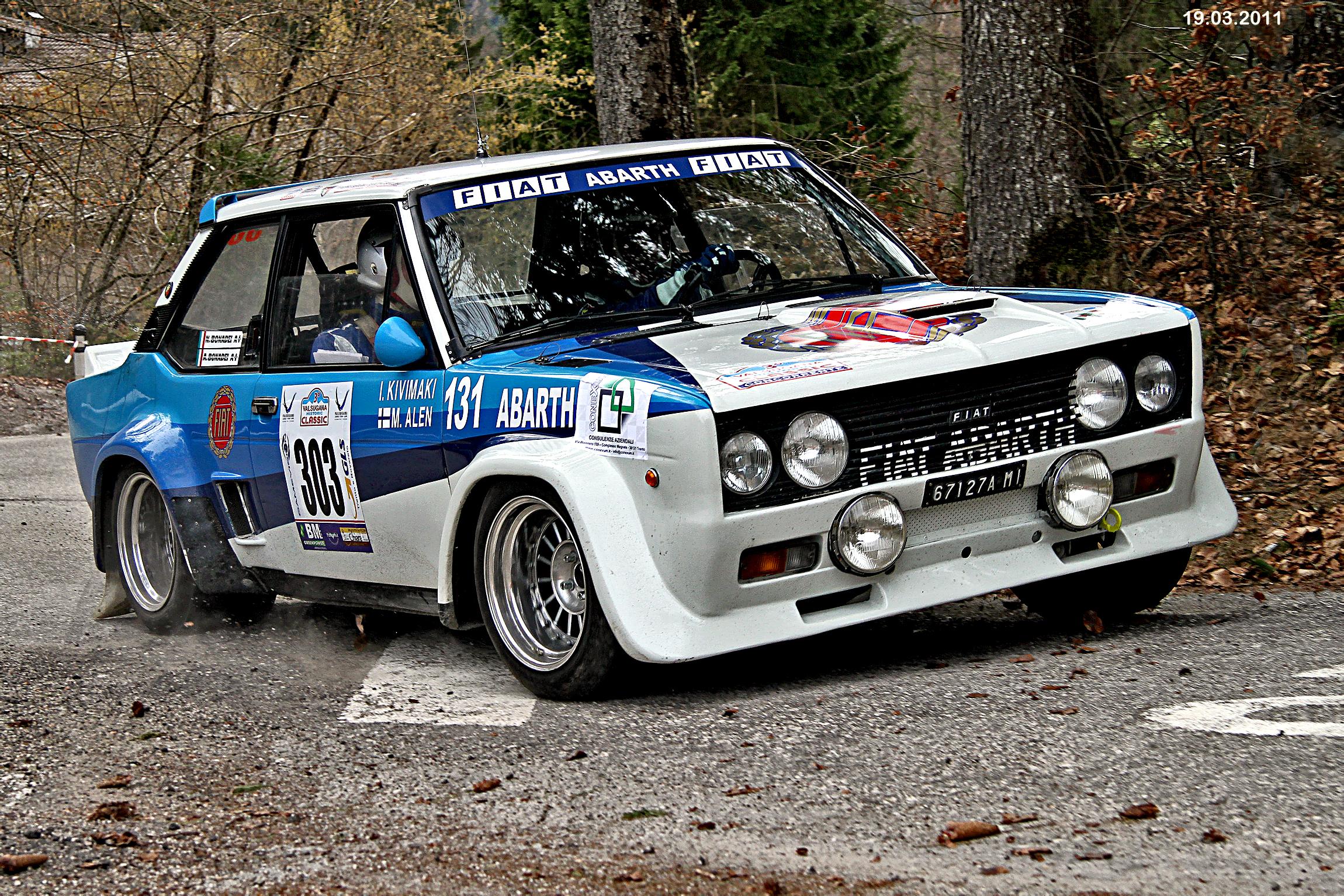 Fiat 131 Mirafiori Abarth 3 Rally Historic Valsugana