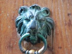 carving, art, metal, door knocker, iron, statue,
