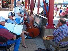 Shreveport Farmers' Market: Bluegrass musicians in the cafe area
