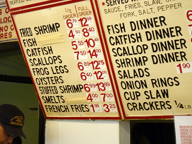 Fish house menu i 39 ve always believed that the plural of for The fish house menu