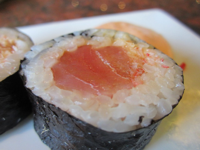 Ahi tuna sushi