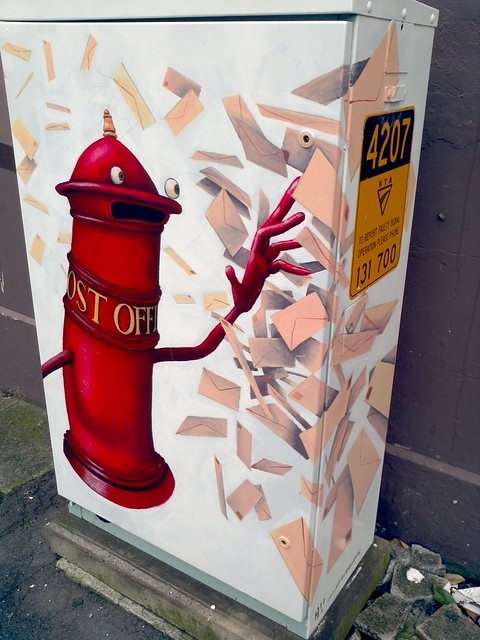 Balmain Street art: Personified Post box