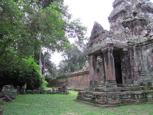 Outside the north gate of Angkor Thom