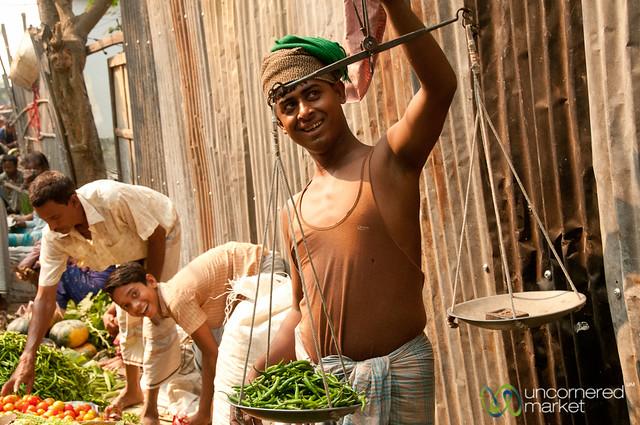 Weighing Chili Peppers at Market - Bandarban, Bangladesh