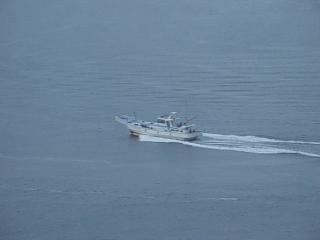 黎明時漁船出海作業(三)