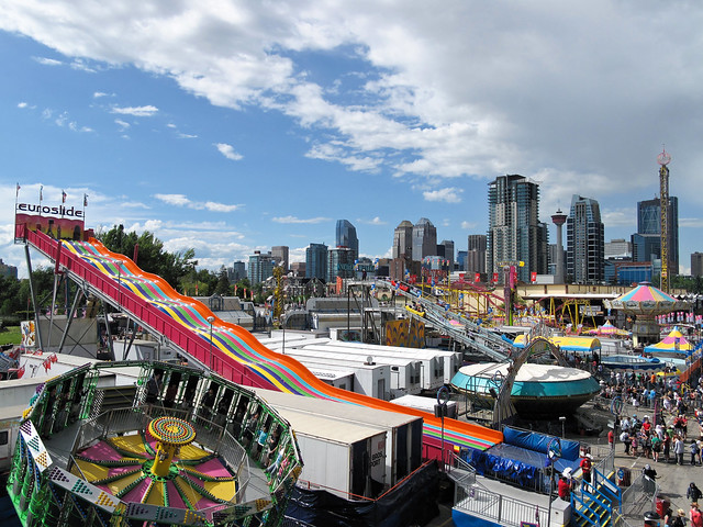 The Calgary Stampede A Look At The Rides On The Midway