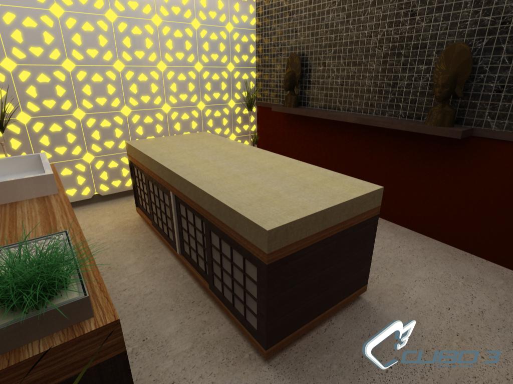 Dise o de spa interior cuarto masajes concepto de spa - Salon diseno ...