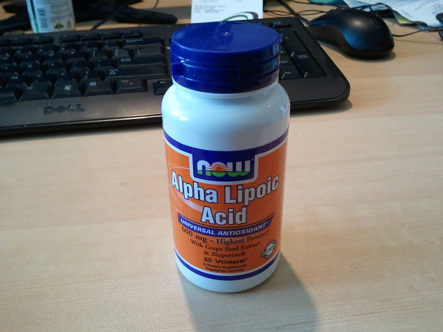 My alpha lipoic acid just arrived. #4hb