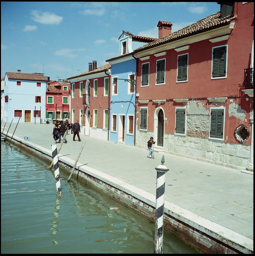 Burano - Red and Blue