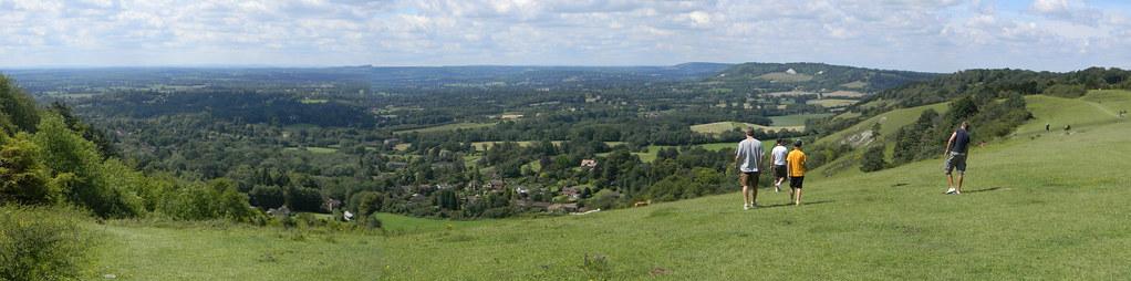 View from Reigate Hill Merstham to Tattenham Corner