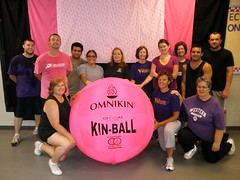 Employee participants in the Summer 2011 Big Pink Volleyball Practice Tournament