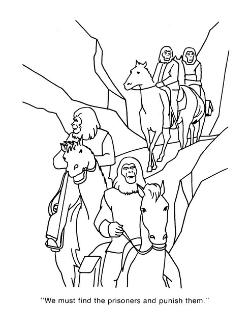 Planet of the Apes Coloring Book 0100062