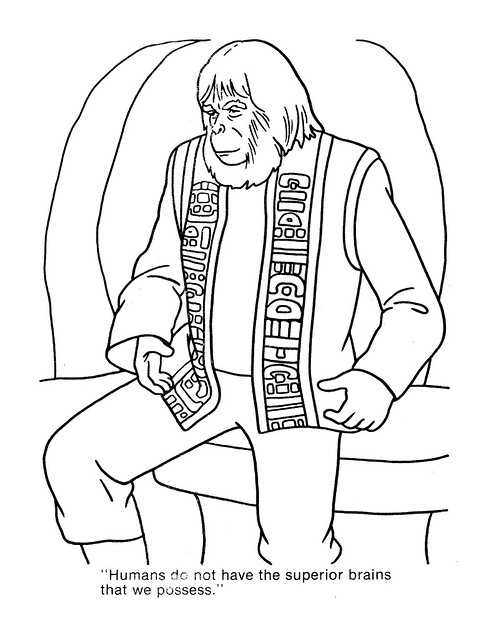 Planet of the Apes Coloring Book 0200036