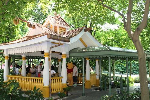 Winnie the Pooh Pagoda at Fantasy Gardens at Hong Kong Disneyland