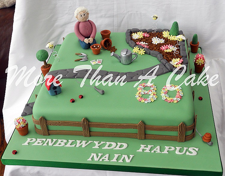 Gardening cake flickr photo sharing for Gardening 80th birthday cake