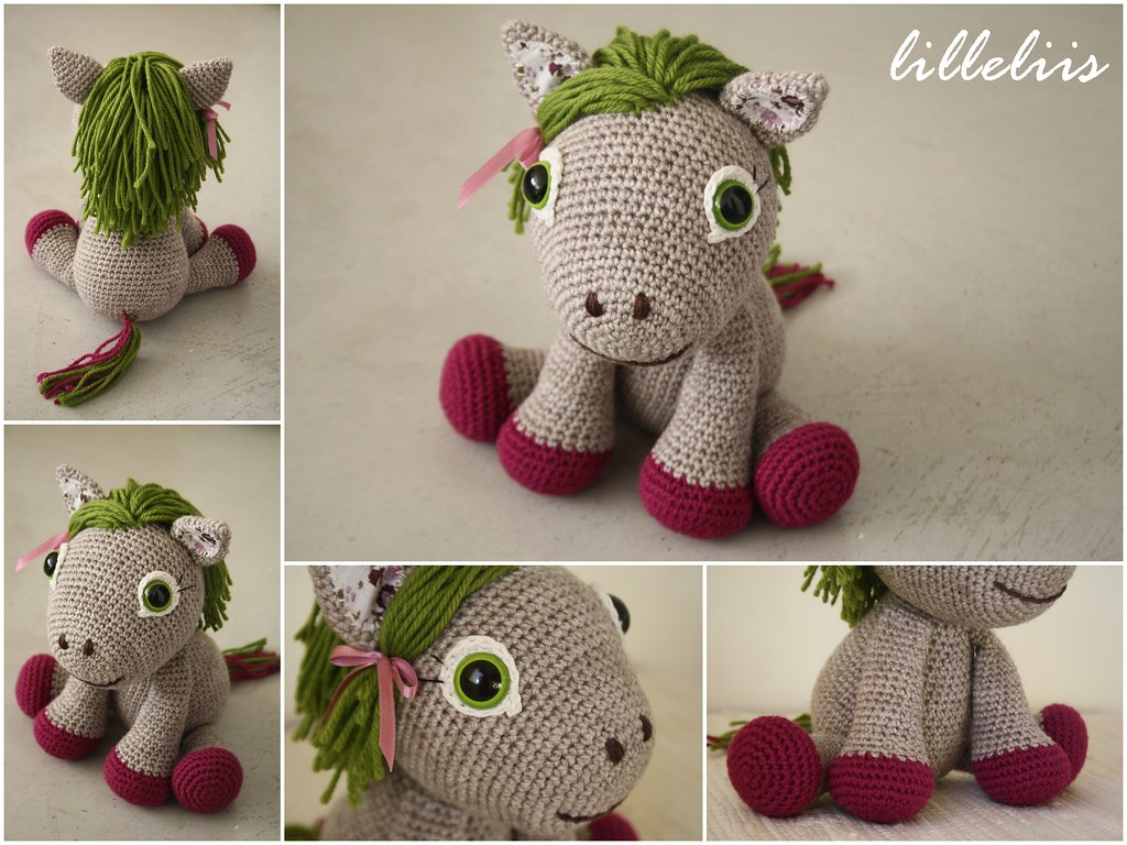 11 Crochet Horse Patterns – Amigurumi Pony Toys - A More Crafty Life | 768x1024