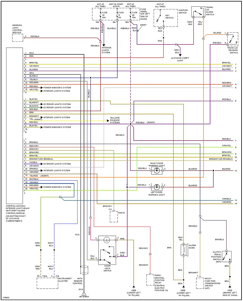 Audi S2 Wiring Diagram Automotive Q7 Diagrams Central Locking A4 Stereo Engine