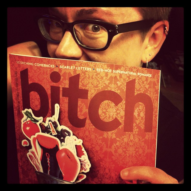Aidan gave me a surprise copy of Bitch