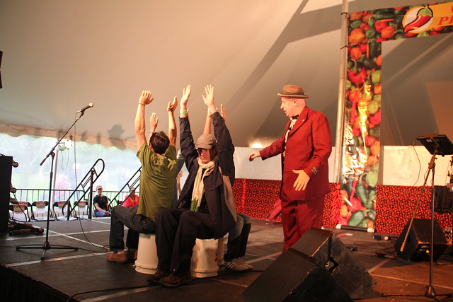 Robbins & Ringold teaching some visitors how to fly! Photo by Rebecca Bullene.