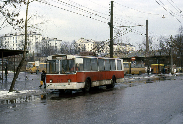 russia - vladimir trolleybus 264 city centre 88 JL