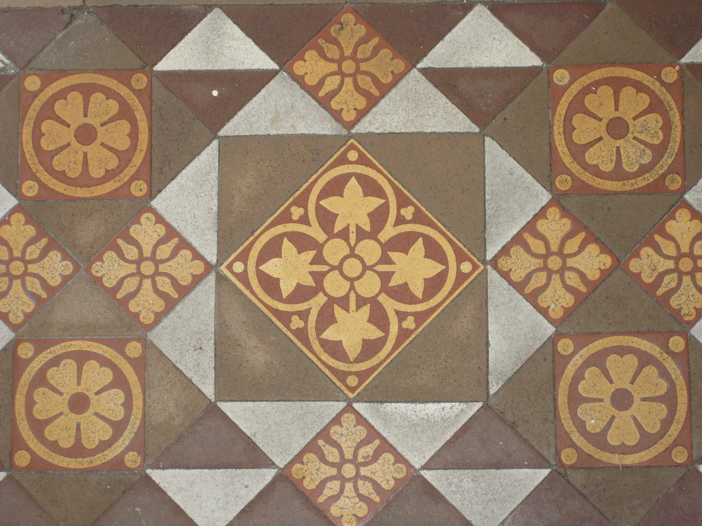 Ornately patterned victorian porch tiles of yooralbyn a boom ornately patterned victorian porch tiles of dailygadgetfo Images