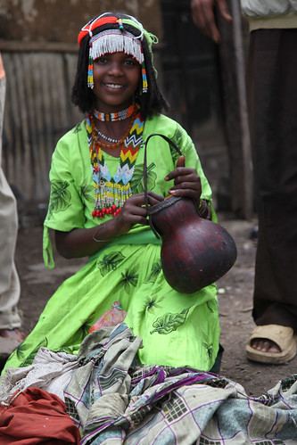 Kemeria Hussien at Ethiopian milk market