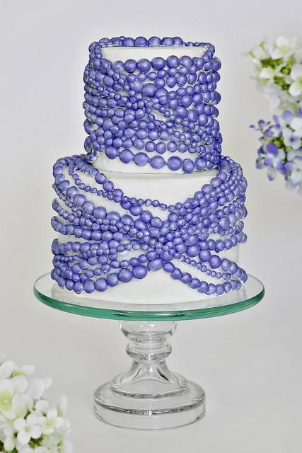 Sapphire Pearl Wedding Cake