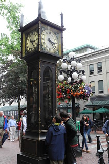 Image of Gastown Steam Clock near West End. clock vancouver steam gastown
