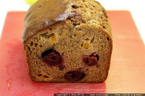 i make the BEST banana apricot cherry bread
