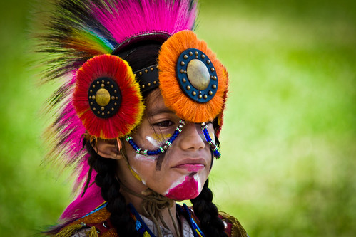 Boy in Head Dress (Close-up)